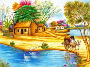 Sunny summer. - Słoneczne lato na wsi