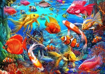 Coral reef. - Life on the coral reef.