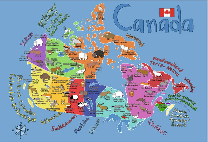 Children Map Of Canada MAP OF CANADA.   Play Jigsaw Puzzle for free at Puzzle Factory