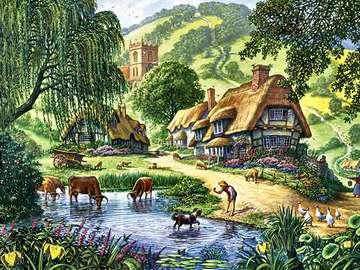Campagne. - Puzzle: zone rurale.