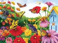 Flores e borboletas. -  Borboletas coloridas.