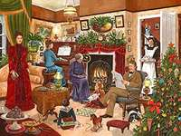 Christmas evening. - Puzzle Christmas Eve.