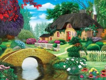 Cottage by the brook. - Cottage by the brook.