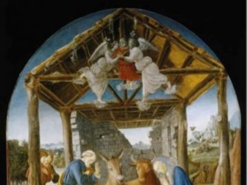 Nativity - the nativity of Botticelli
