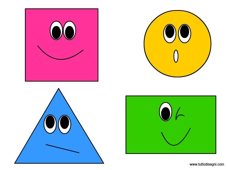 formes géométriques - les quatre formes géométriques de l'enfance à l'école