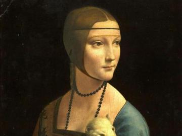 Dame mit einem Hermelin - Porträt von Cecilia Gallerani
