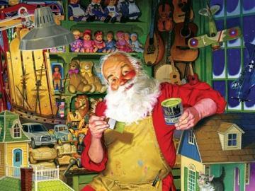 Babbo Natale sta arrivando. - Puzzle con Babbo Natale.