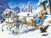 regina zăpezii - Regina zăpezii. Zăpadă regină - puzzle pentru copii. Aceasta este Regina Zăpezii. Regina zăpez