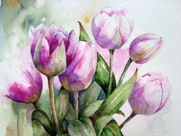 Piękna kompozycja kwiatowa - Piękne kwiaty na obrazie