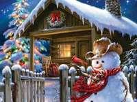 Ein charmantes Haus im Winter