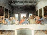 elipozzoli - quebra-cabeça da ceia de Leonardo de Vinci