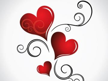 hearts - hearts, red, cute,