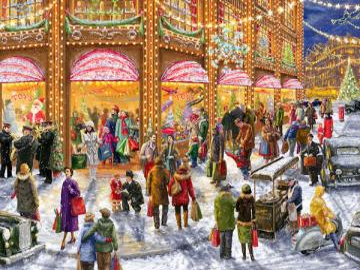 Shopping natalizio. - Febbre dello shopping natalizio.