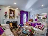 Vardagsrum i lila