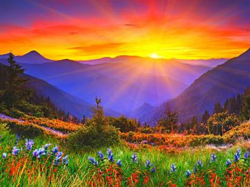 wschód słońca wschód słońca - To dobre miejsce do oglądania wschodu słońca
