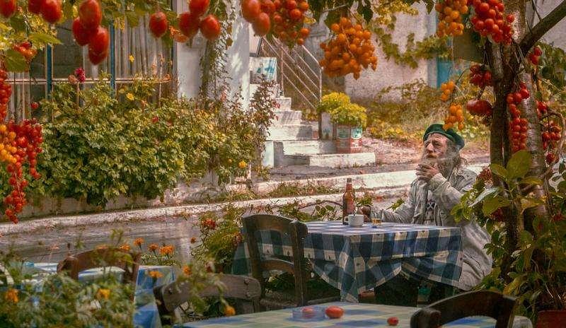 Görög hangok - Görög paradicsom. Puzzle. Görög hangok. Különböző paradicsomok (10×10)
