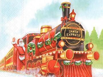 Tovagliolo di Natale. - Santa Express. Tovagliolo di Natale.