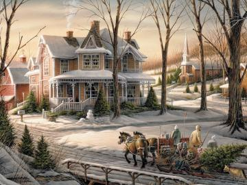 Country Residence. - Country residence in the winter.
