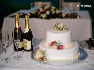 pastel de bodas blanco 2 - pastel de bodas blanco y champagne