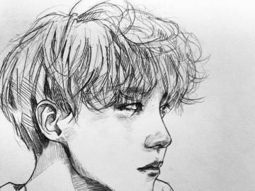 jung  ho- seok version dibujo - pasa la navidad con j- hope de bts