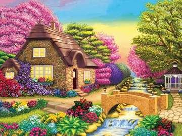 Image. - Puzzle. Image colorée.