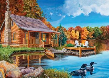 Cottage on the bank of the lake. - Cottage on the bank of the lake.