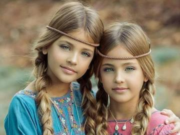 Little sisters - beautiful sisters, probably American