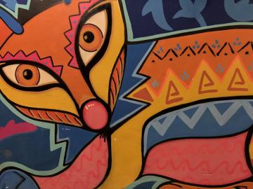 Moderne Kunst - Ein farbenfrohes Bild, ein Beispiel für Kunst