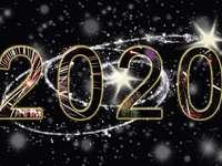 nytt år 2020 - Nyår 2020-pussel