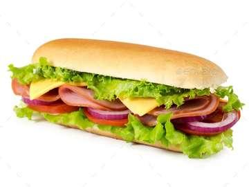 Pyszna kanapka - Jest to bogaty posiłek Kolumbii
