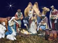 Χριστουγεννιάτικη σκηνή γέννησης. - Μια εικόνα μιας σκηνής γέννησης Χριστουγέννων