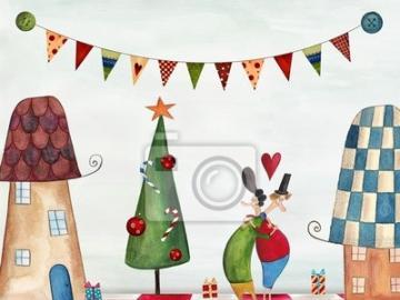 Cartolina di natale - L'immagine di una cartolina di Natale
