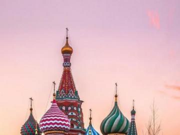 Moscow Cathedral, Russia - Cathedral in Moscow, Russia ,. Saint Basil's Cathedral or Saint Mary's Protection Cathedra