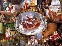 Παζλ με τον Άγιο Βασίλη - Παζλ με τον Άγιο Βασίλη Χριστούγεννα