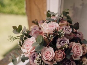 Blumen Bouquet - Rosa Blumenstrauß