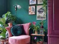 Růžový interiér