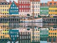 Barevné domy Dánsko