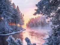 Zimní krása. - Puzzle: zimní krása.