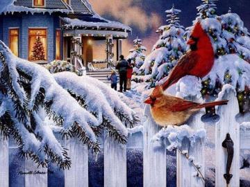 Visita di Natale. - Puzzle di Natale.