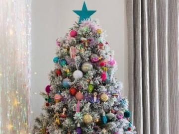 Christmas tree - Christmas tree decoration. A colorful tree.