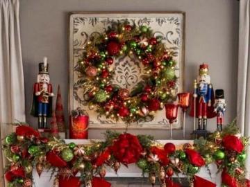 Christmas fireplace - Christmas fireplace decor