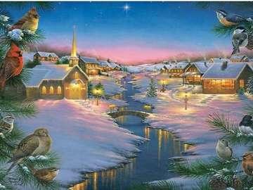 Paesaggio invernale - Paesaggio invernale di Natale