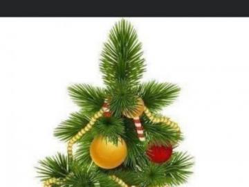 Albero di natale - albero di Natale verde e vestito