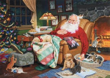 Santa has Christmas too. - Jigsaw puzzle. Santa has Christmas too.
