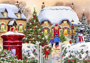 Painting. - Art. Christmas in painting.