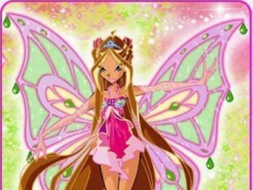 花草 仙子 芙羅拉 - 超 仙靈 女 (Enchantix) 型態