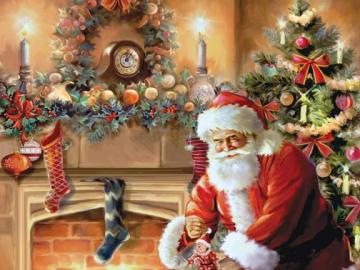 And after christmas. - Jigsaw puzzle. Christmas.