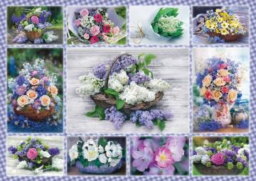Floral collage. - Puzzle: floral collage.