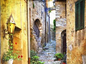 Piękna kamienna uliczka - Piękna kamienna uliczka