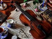 Old wooden violin with soul - Old wooden violin with soul